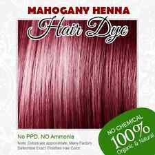 Mahogany Henna Hair Dye - 100% Organic and Chemical free Henna for Hair