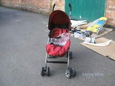 Mamas and Papas Swirl Red Pushchair - With Raincover and Footmuff