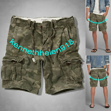 NWT ABERCROMBIE & FITCH MENS CARGO SHORTS CAMO SIZE 32/36 A&F