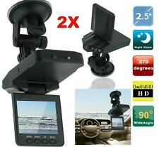 "2 X 2.5"" Vehicle Car DVR Camera Video Recorder Dash Cam G-Sensor Dual Len Cam OE"