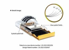 2in1 Eyelash Extension Tray & Pallet C Curl 0.15 silk lash mix 10mm, 11mm & 12mm