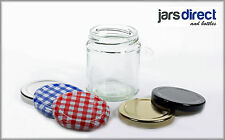 100 x 190ml (Approx 8oz) GLASS JARS FOR JAMS PRESERVES CHUTNEY & HONEY