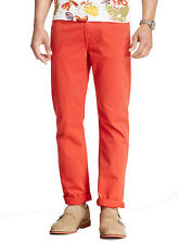 Seven 7 For All Mankind Mens Jeans Straight Leg Button Fly 5-Pockets Orange $189