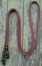 10ft Loop Rope Reins w Brown Leather SS Buckled Ends - Choice of Rope Colour