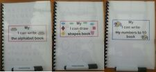 FINE MOTOR SKILLS WIPE CLEAN  BOOKS CHOICE OF 3 numbers alphabet & shapes