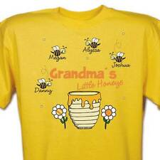 Personalized T-Shirt For Mom or Grandma Little Honey's Any Title Yellow T-Shirt
