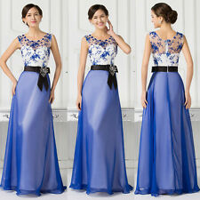 Elegant Chiffon Bridesmaid Long Prom Formal Evening Dress Pageant Party Gowns