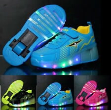Boys Girls Roller-Skate Shoes With Light Up Wheel Skating Children Shoes