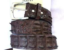 EXTREME BROWN CROCODILE ALLIGATOR LEATHER MENS BELT