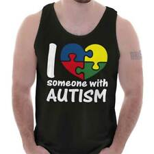 I Love Someone With Autism Shirt Cute Autism Awareness Unisex Tank Top Shirt