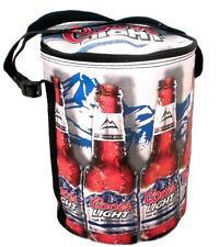 Coors Light Cylinder Beer Collapsible Cooler Bag hold 6 Bottles/12 cans & Ice