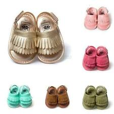 Baby Toddler Summer Sandal Soft Sole Leather Crib Shoes Infant Moccasin 0-18 M