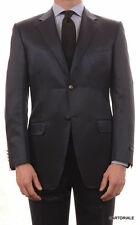 CANALI Made In Italy Blue Striped Wool-Silk Satin Suit NEW Slim Fit
