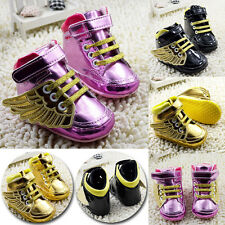 Infant Baby Boys Girls Sneakers Fashion Angel Wings Soft Sole Toddler Crib Shoes