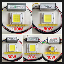 LED SMD Chip Bulb 10W 20W 30W 50W 100W LED Driver Supply High Power Waterproof