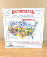 NEW DISTRESSED BOX ARTMAP BASKETBALL JIGSAW PUZZLE 550 WORLD IMPRESSION 1992 I4