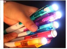 Multicolour Ball Point Pen Flash Light School  Stationary Supplies Unique Style