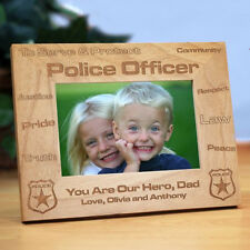 Personalized Police officer Picture Frame Engraved Policeman Photo Frame Gift