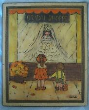 MID CENTURY Vintage 70's BRIDAL SHOPPE Print on Wood by CANDI - Numbered