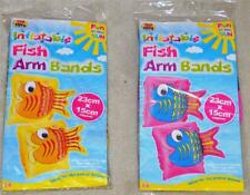 Funky Kids Inflatable Fish Arm Bands - Swimming Aid Armbands 3-6 Years New Child