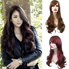 New Women Girl Fashion Long Wavy Curly Hair Cosplay Costume Party Full Wigs BE