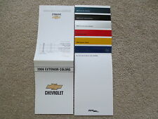 2006 CHEVROLET SSR FACTORY COLOR CHIP SAMPLE CHART BROCHURE