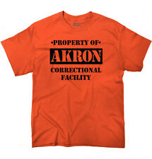 Property of Akron, OH Prison The New Black Novelty  Graphic T-Shirt Tee