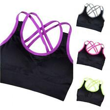 Women Sports Bra Yoga Fitness Workout Crop Tops Tank Padded Seamless Breathable