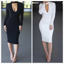 Women Sexy Long Sleeve  Bandage Slim Bodycon Evening Party Cocktail Mini Dress