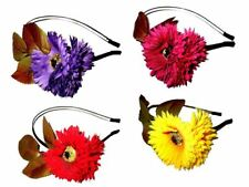 One Large Flower & Leaves Alice Hair Band Headband Floral Accessory