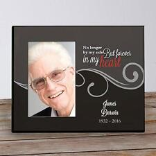 Personalized Memorial Picture Frame No Longer by my Side Remembrance Photo Frame