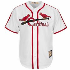 Majestic White/Red Cooperstown Cool Base® Jersey - St. Louis Cardinals