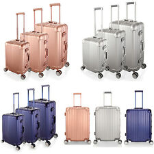 "LUXURY 20""-28"" ALUMINIUM EDGE TRAVEL SUITCASE CABIN LUGGAGE 360D 4WHEEL TSA LOCK"