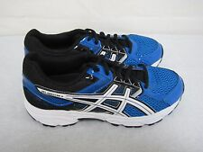 New! Boys Asics Gel Contend 3 Running Shoes Style C566N Royal BlueBlack  31L