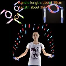 New Rubber LED Lighting Jump Rope Skipping Rope for Adults School Kids Fitness