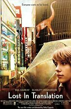 LOST IN TRANSLATION Movie Silk Fabric Poster Bill Murray Scarlett Johansson