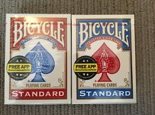 2 X NEW DECKS OF BICYCLE CLASSIC STANDARD PLAYING CARDS RED & BLUE