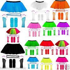 NEW WK ADULT'S NEON 3 LAYERS UV HOT SEXY HEN PARTY TUTU COMPLETE SET FANCY  8-16