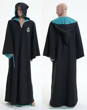 Harry Potter Slytherin of Hogwarts Robe Costume Cosplay Halloween Party