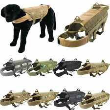 Police K9 Tactical Military Molle Dog Harness Training Nylon Vest 11 Colors