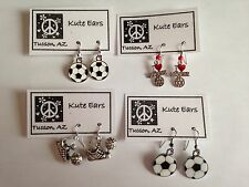 SOCCER Dangle Earrings - Free Shipping - Various Styles Sports