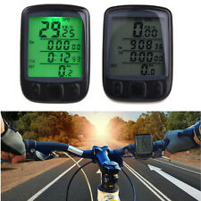 Waterproof Cycle Bicycle Bike LCD Computer Odometer Speedometer With Backlight
