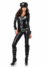 Leg Avenue 4 Piece Sexy Officer Payne Lame Cat Suit Sexy Women's Cop Costume