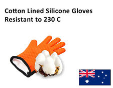 NEW 2PC Food Grade Silicone BBQ Gloves Oven Mitts Heat Proof Resistant Anti Slip