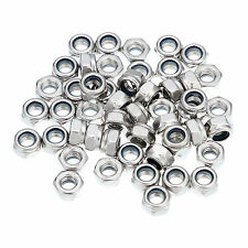 A2 Marine Stainless Steel Nyloc/Nylon Insert Locking Nuts to Fit Bolts & Screws