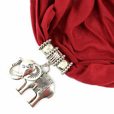New Arrivals Fashion Alloy Elephant Pendant Jewelry Necklace Scarf with Tassels