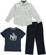 "Nautica Little Boys' Toddler ""Anchored"" 3-Piece Outfit (Sizes 2T - 4T)"