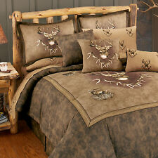 Whitetail Ridge Deer Comforter Set or Bed in Bag w/ Sheets~Twin Full Queen King