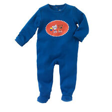 Mouk Baby Boys Printed Cotton Interlock Sleepsuit With Feet
