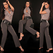 Sexy Women Classic Office Trousers Ladies Bootcut Black Jeans Sizes 6 8 10 12 14